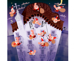 Postal de Nadal. Casa Batlló